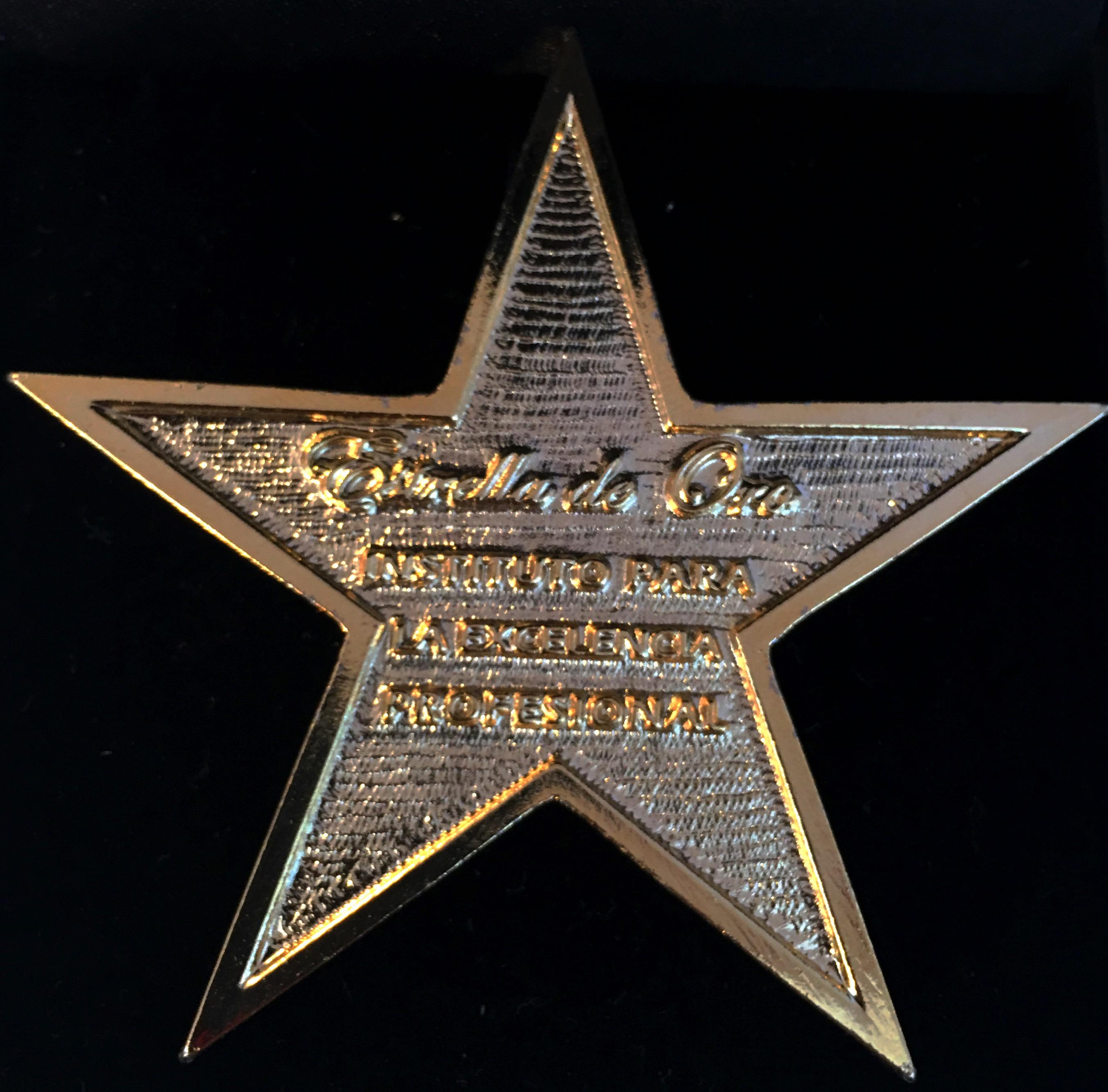 """HYD recibe el premio """"Estrella de oro"""" a la excelencia profesional."""